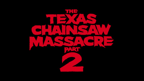 Texas chainsaw massacre part 2 1986 movie poster typography