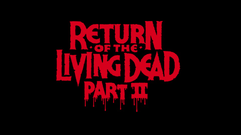 Return of the living dead part 2 1988 movie poster typography
