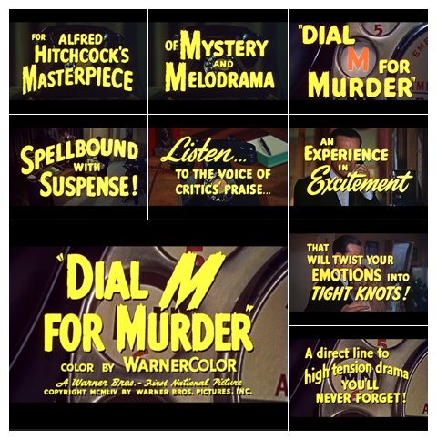 Dial M for murder (1954) typography