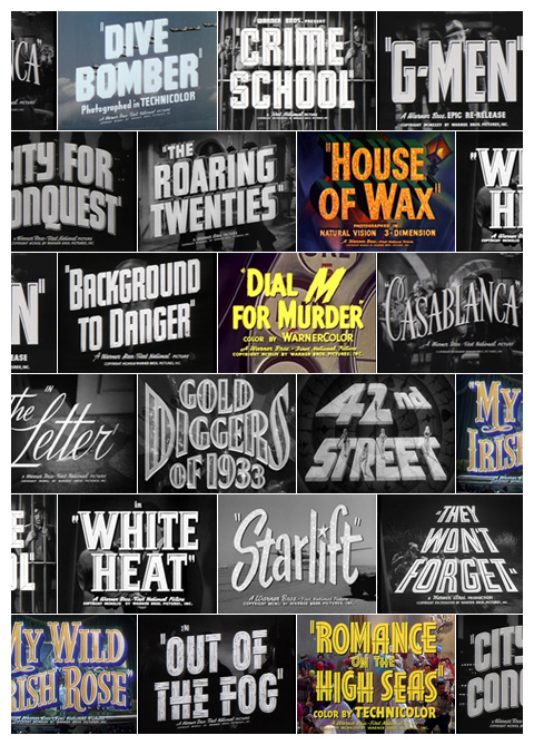 Warner Bros. trailer typography