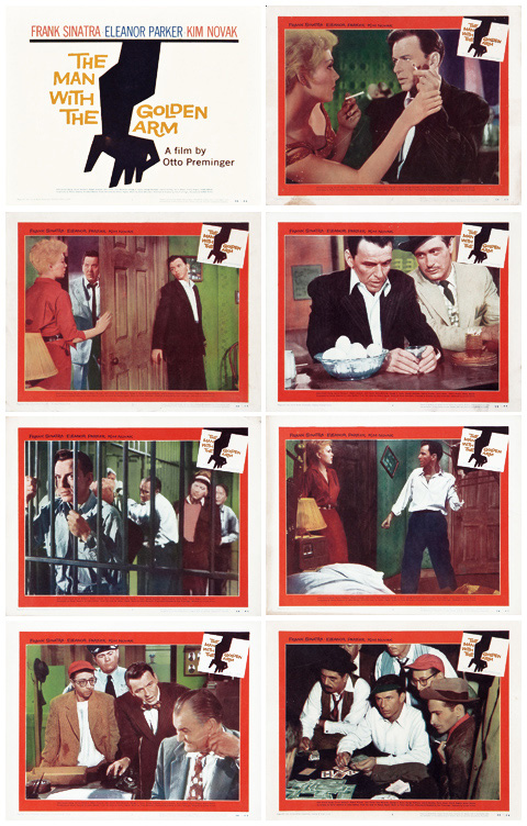 Saul Bass The man with the golden arm (1955) Lobby cards