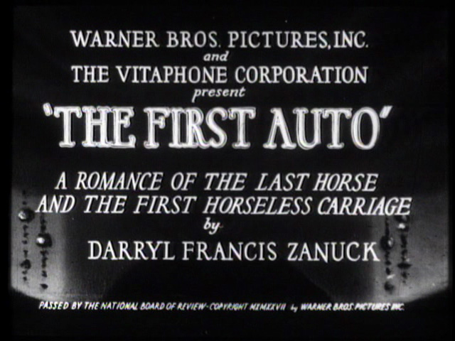 The First Auto 1927 movie title