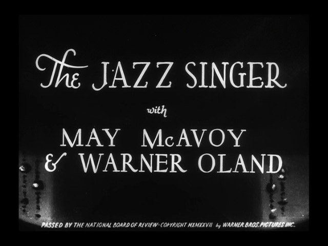 The Jazz Singer 1927 movie title