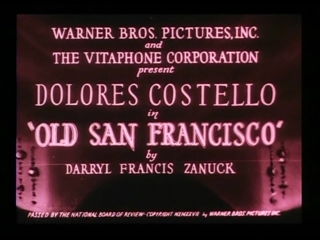 Old San Francisco 1927 movie title