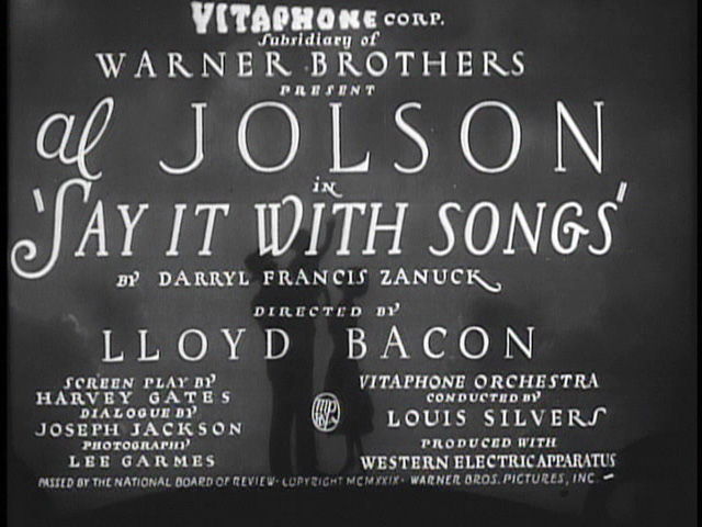 Say It with Songs 1929 movie title