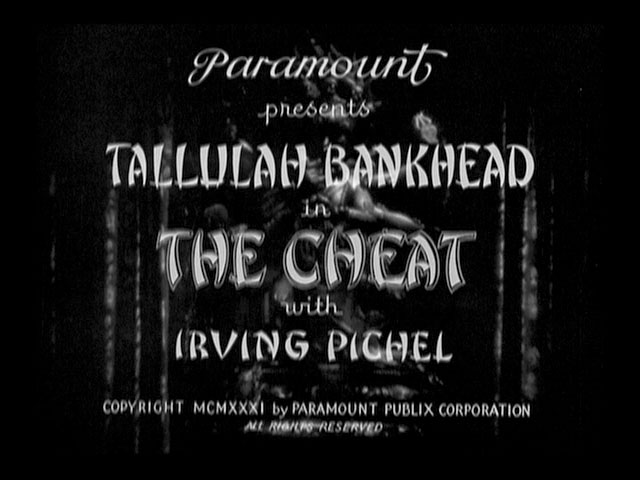The cheat 1931 movie title