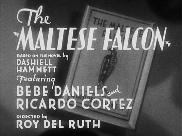 The Maltese Falcon 1931 movie title