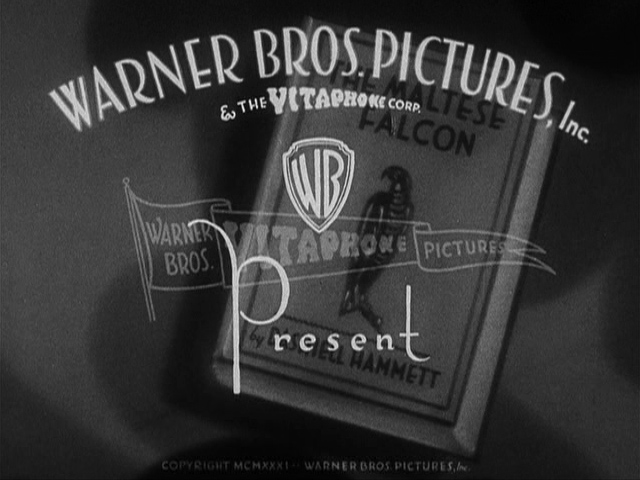 Warner Bros. logo 1931 The Maltese Falcon