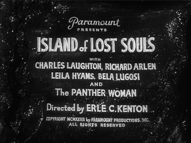 Island of Lost Souls 1932 movie title