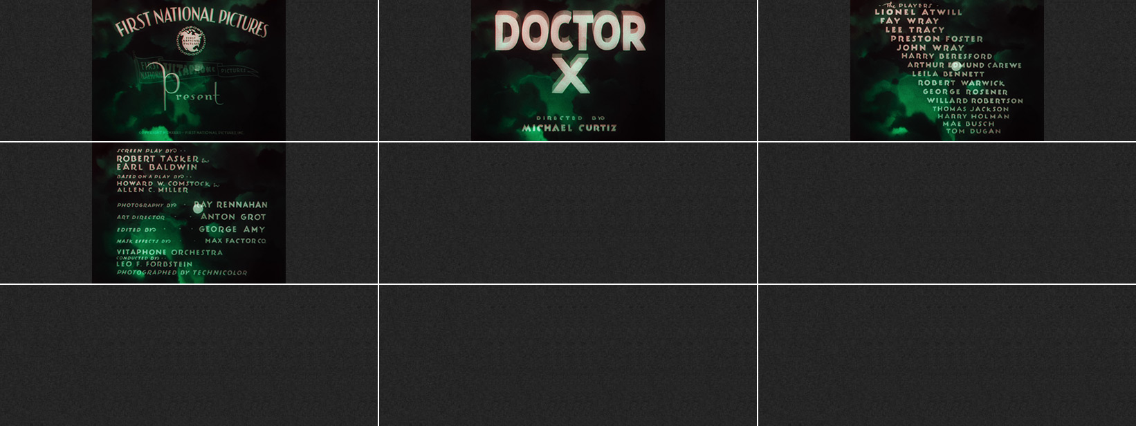 Michael Curtiz: Doctor X (1932) title sequence