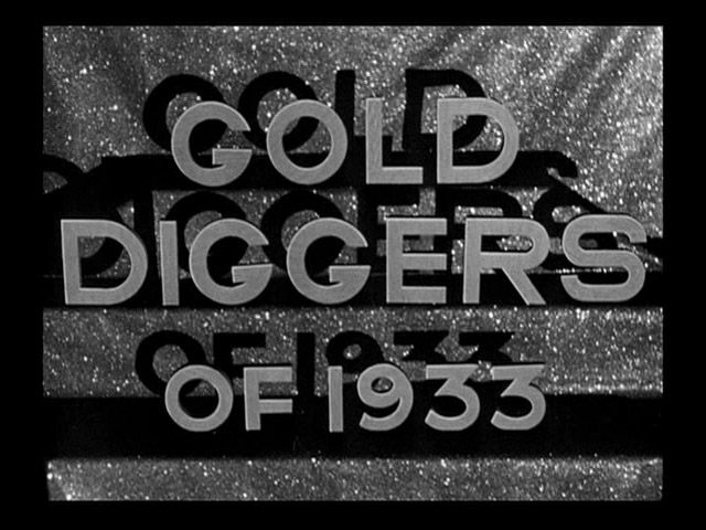 Gold Diggers of 1933 movie trailer title