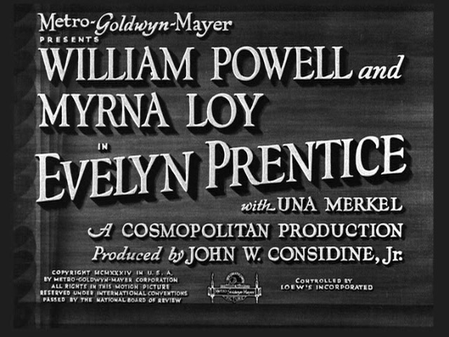 Evelyn Prentice 1934 movie title