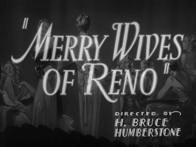 Merry Wives of Reno 1934 movie title