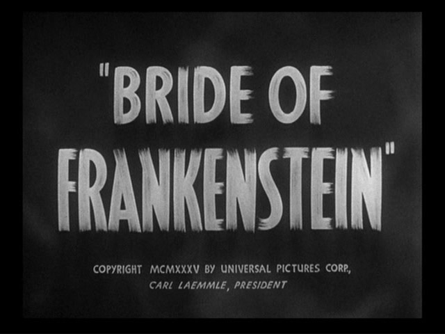 Bride of Frankenstein 1935 movie title
