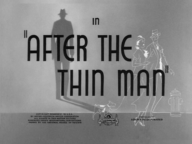 After the Thin Man 1936 movie title