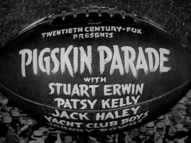 Pigskin Parade (1936) title sequence