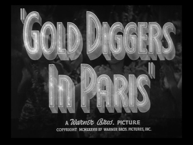 Gold Diggers in Paris trailer title