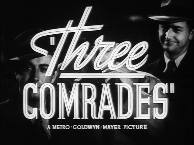 Three comrades movie trailer title