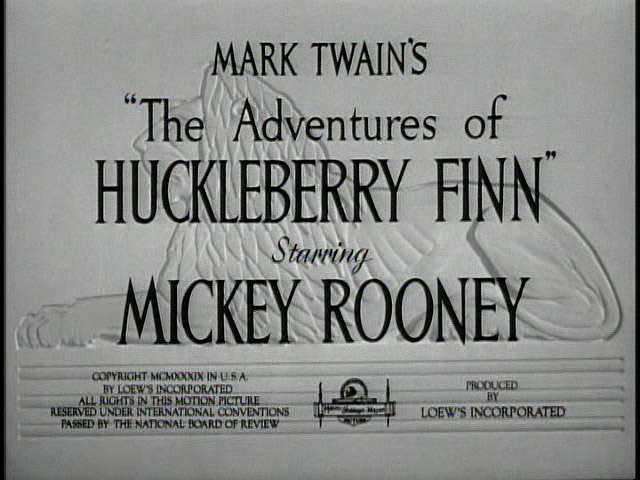 The Adventures of Huckleberry Finn 1939 movie title