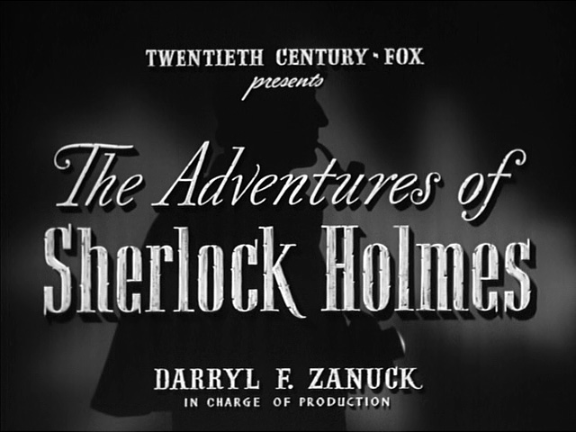The Adventures of Sherlock Holmes 1939 movie title