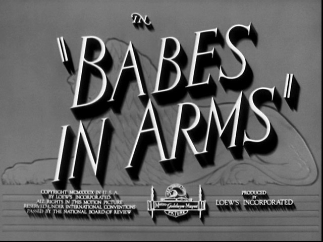 Babes in arms 1939 movie title