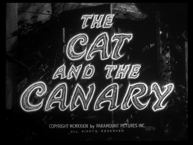 The Cat and the Canary 1939 movie title