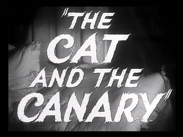 The Cat and the Canary trailer title