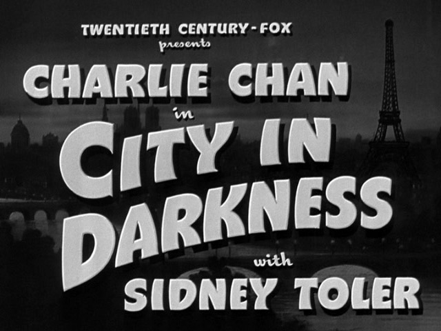 Charlie Chan in City in Darkness 1939 movie title