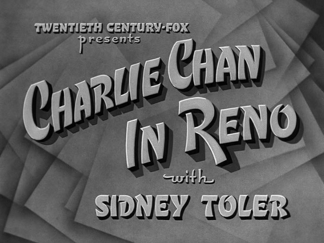 Charlie Chan in Reno 1939 movie title