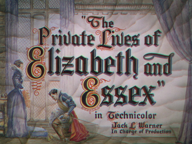 The Private Lives of Elizabeth and Essex 1939 movie title