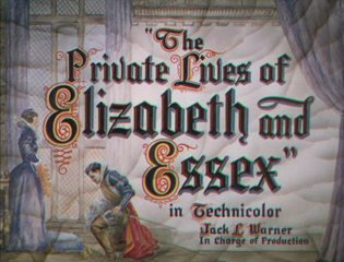 The Private Lives of Elizabeth and Essex (1939) movie title