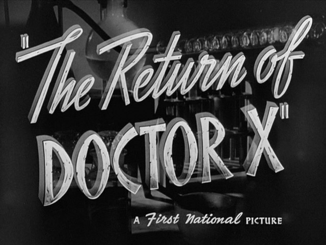 The Return of Doctor X 1939 movie title