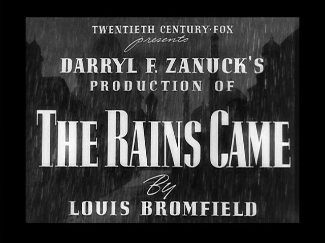 The Rains Came 1939 movie title