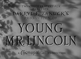 Young Mr. Lincoln (1939) John Ford - blu-ray movie title