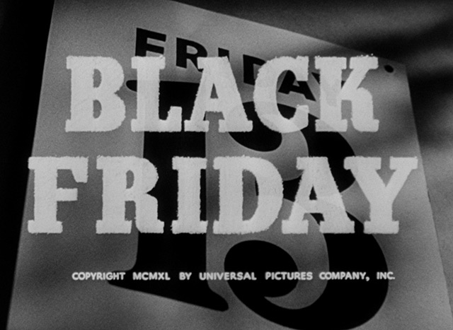 Black Friday 1940 Title Sequence The Movie Title Stills Collection