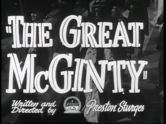 The great McGinty movie trailer title