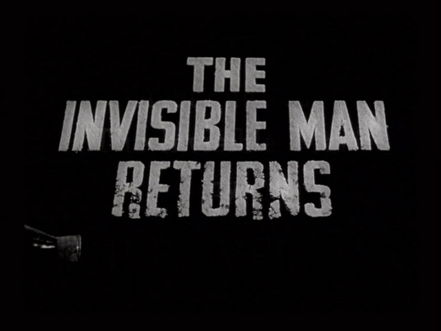 The Invisible Man Returns 1940  movie title