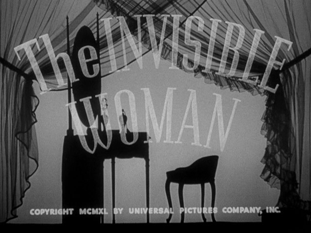 The Invisible Woman 1940 movie title