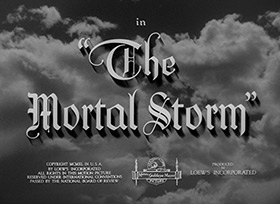 James Stewart: The Mortal Storm (1940) title sequence