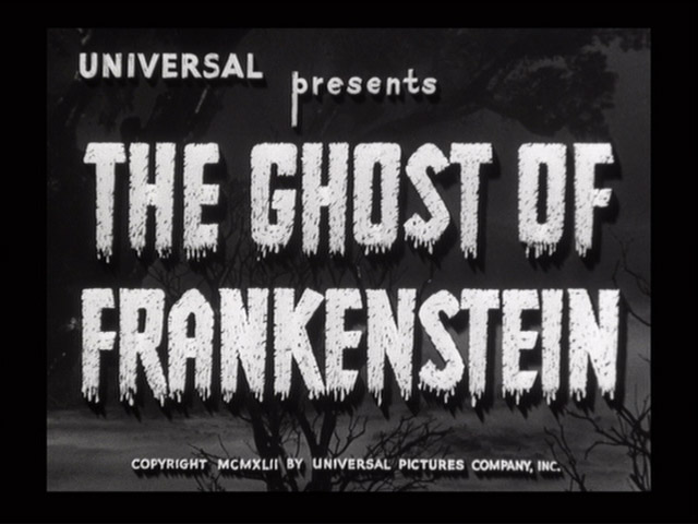 The Ghost of Frankenstein 1942 movie title