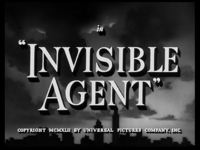 Invisible Agent 1942 movie title