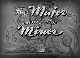 The Major and the Minor (1942) Ginger Rogers - blu-ray movie title