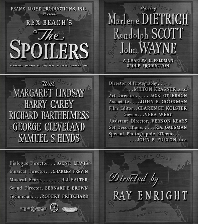 The spoilers (1942) opening credits