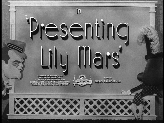 Presenting Lily Mars (1943) title sequence