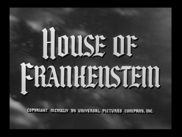 House of Frankenstein 1944 movie title