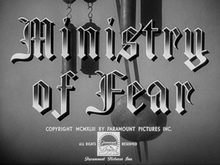 Ministry of Fear (1944) Blu-ray movie title