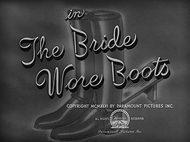 The Bride Wore Boots (1946) Barbara Stanwyck - Blu-ray movie title