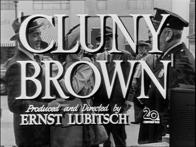 Cluny Brown trailer title