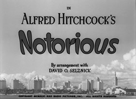 Notorious (1946) Cary Grant - blu-ray movie title