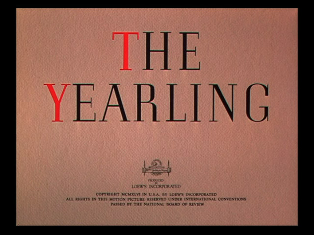 The yearling 1946 movie title